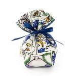 Bomboniera sacchetto in cotone con fantasia maiolica