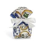 Portaconfetti in cotone piccolo con fantasia maiolica