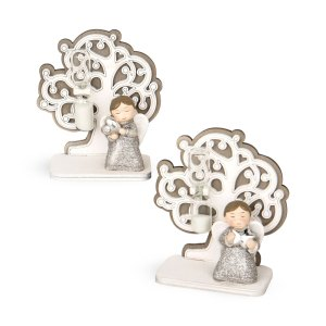 Angioletto con albero della vita e clessidra-0