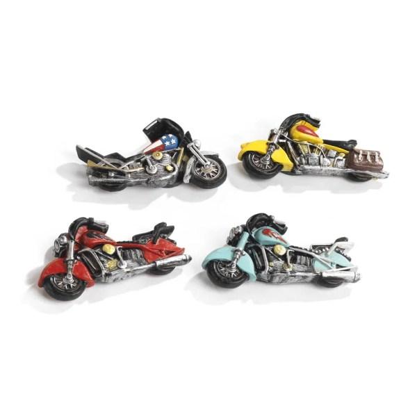 Bomboniera motocicletta calamita in resina 4 assortite