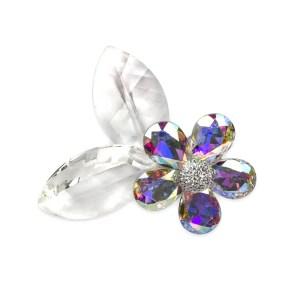 Bomboniera decoro fiore in vetro piccolo-0