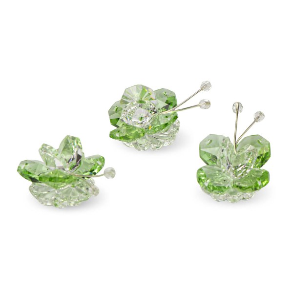 Bomboniea farfalla cristallo e verde-0