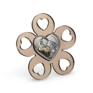 Icona fiore plexi bronzo sacra famiglia-0