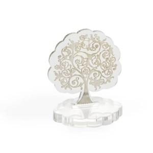 Bomboniera albero piccolo in plexiglass trasparente-0