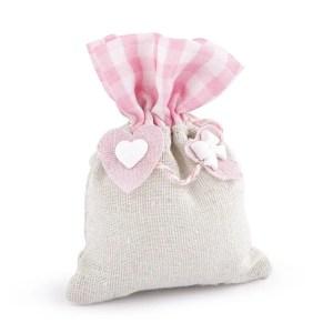 sacchetto mia bag rosa con gessetti