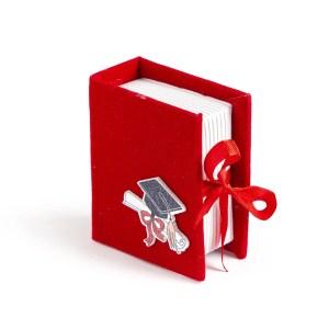 book portaconfetti laurea rosso