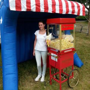 popcornmachine stand compleet verzorgd