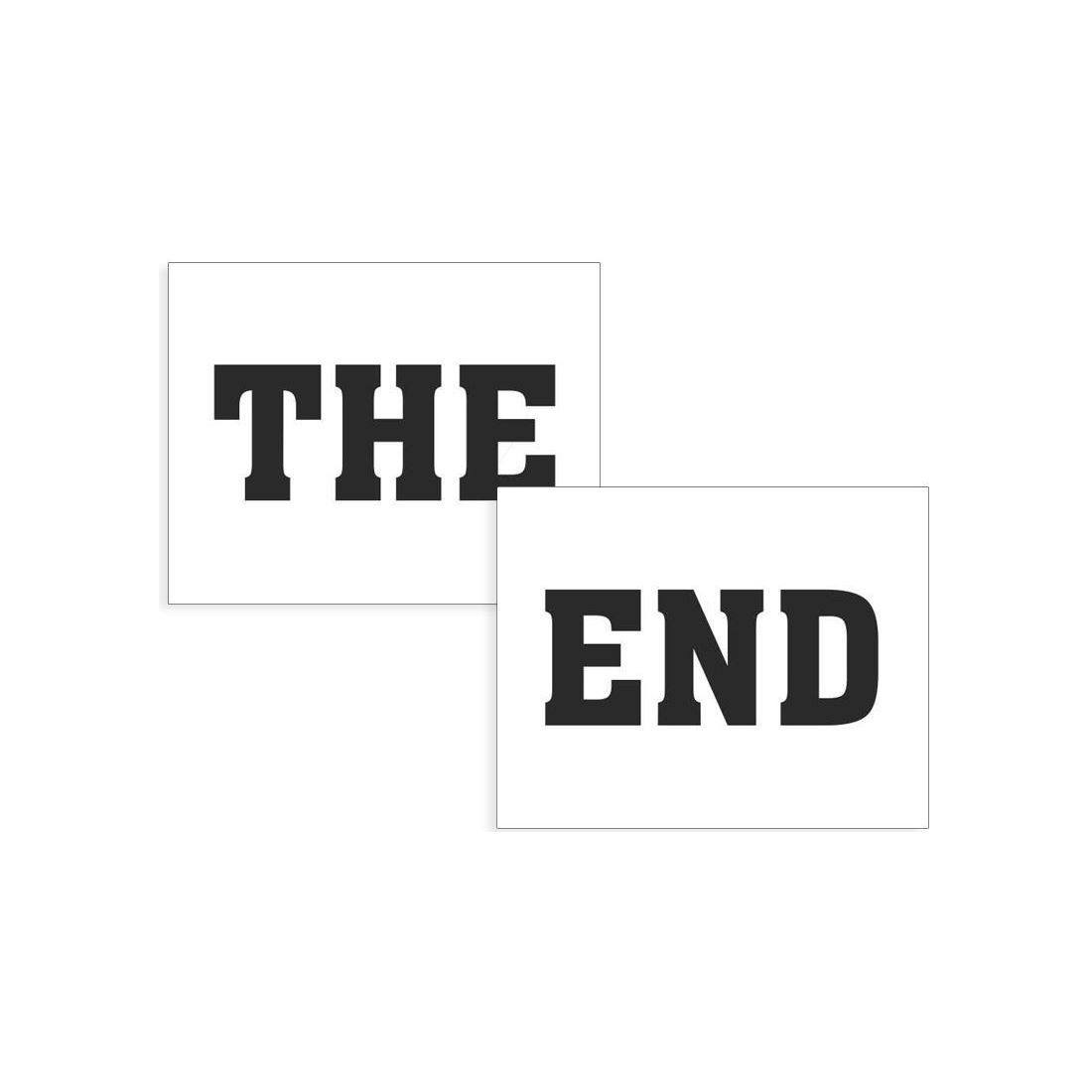 Nalepky Na Topanky The End
