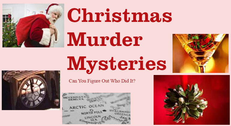 Christmas Games  Holiday Party Games  Gift Exchanges Christmas Murder Mystery Party