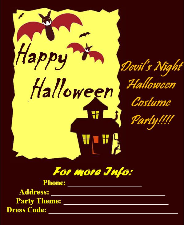 Halloween Party Invitation Cards Party Ideas