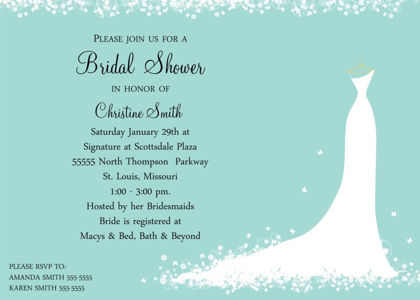 Bridal Shower Party Themes Ideas Invitation Wording Sle Invitations