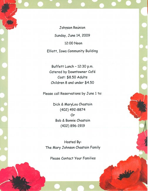 17 Family Reunion Party Invitations – Reunion Party Invitations