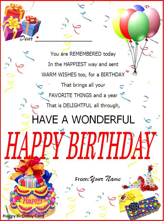 19 Birthday Wish Cards Party Ideas