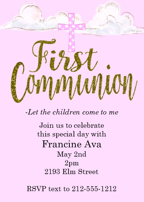 first communion party invitations new