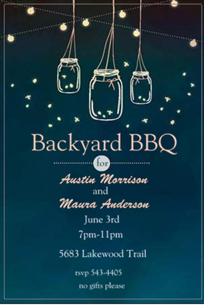 Tropical Garden And Bbq Bridal Shower Invitations New
