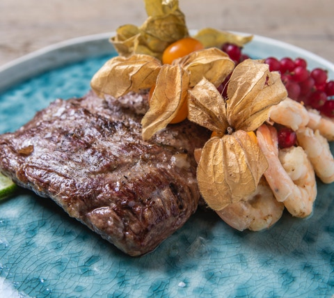 Flank Steak Surf & Turf