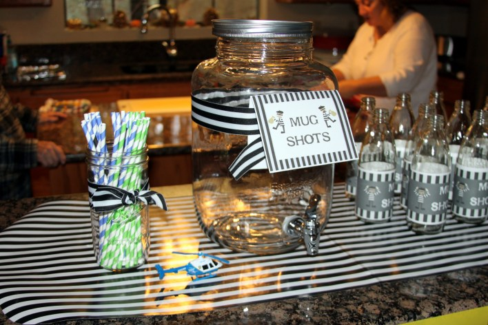 cops and robbers party drink idea
