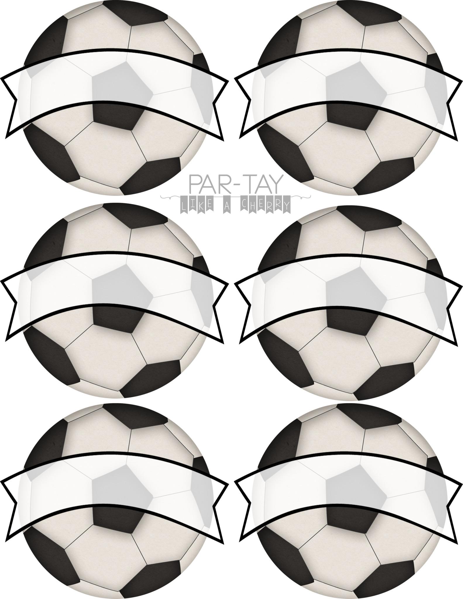Soccer Team Snack Printables