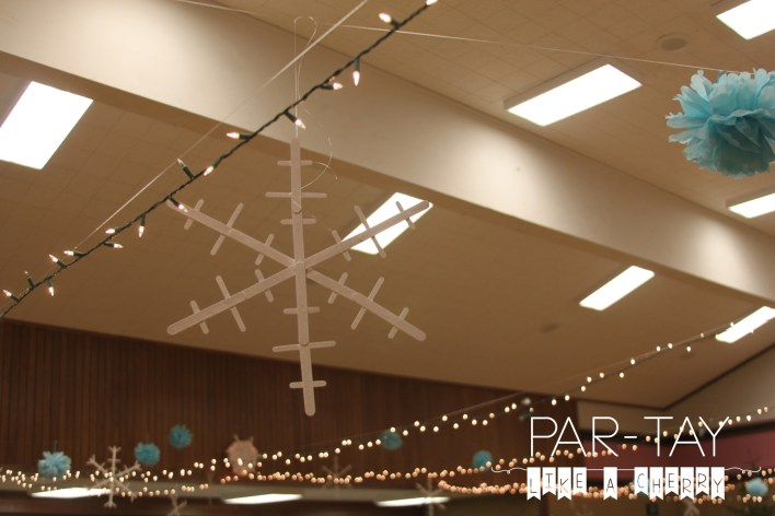 Popsicle snowflakes for polar express christmas party