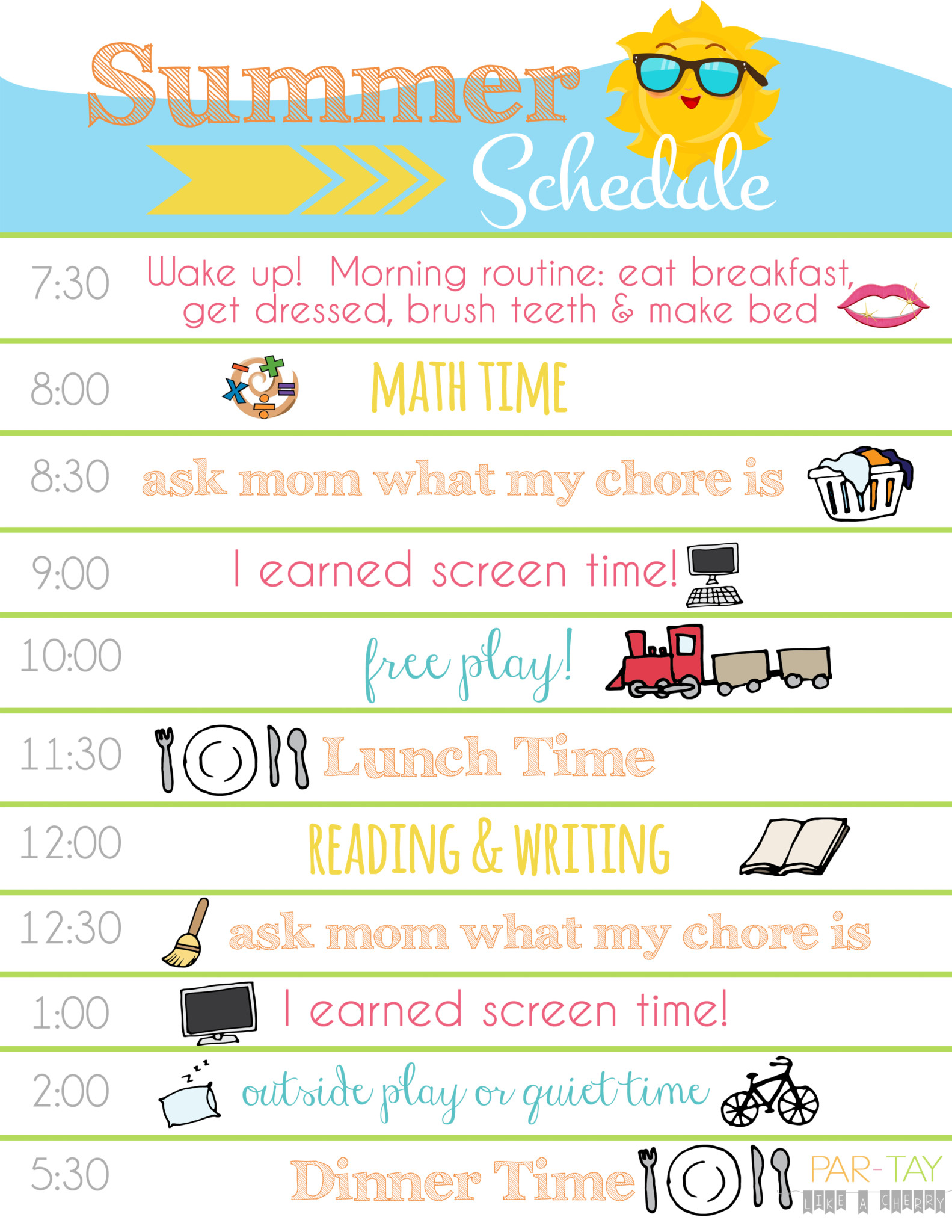Summer Daily Schedule 1 With Logo