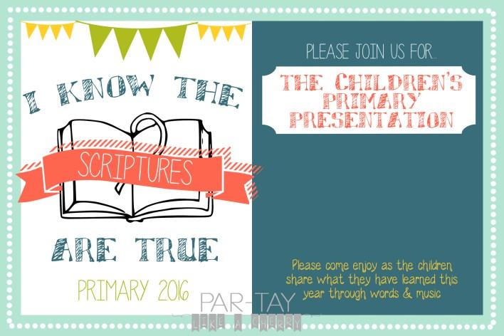 primary program invitation free printable