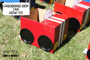 tips and tricks to turn a cardboard box into a car for your drive in movie party