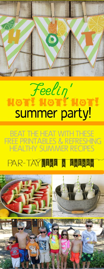 summer party ideas, free printables, recipes, food and activity ideas and more! Perfect for the kids!