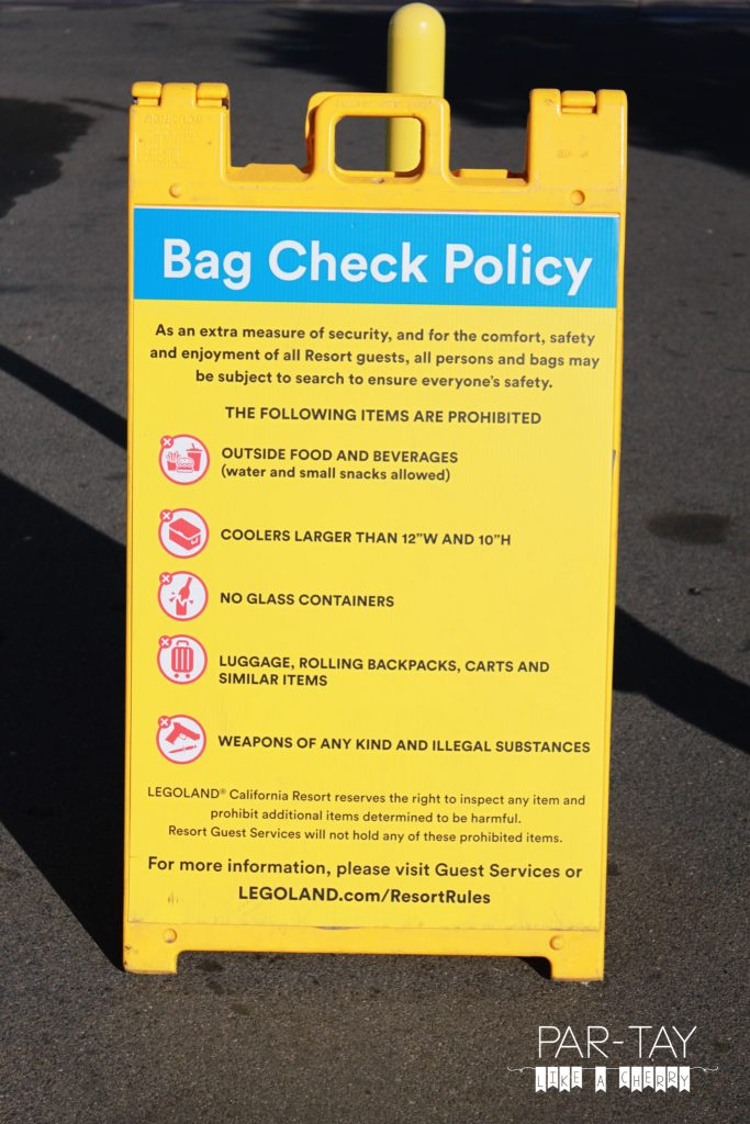 tips, tricks and hidden gems to do Legoland California like a boss . Legoland bag check policy