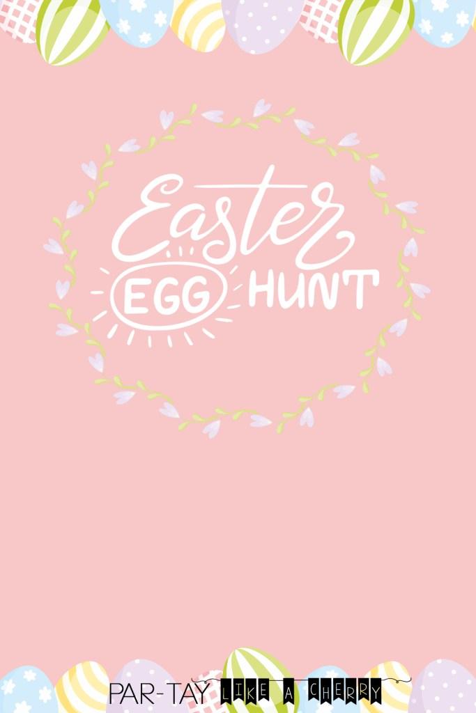 Free Easter Egg Hunt Invitation template