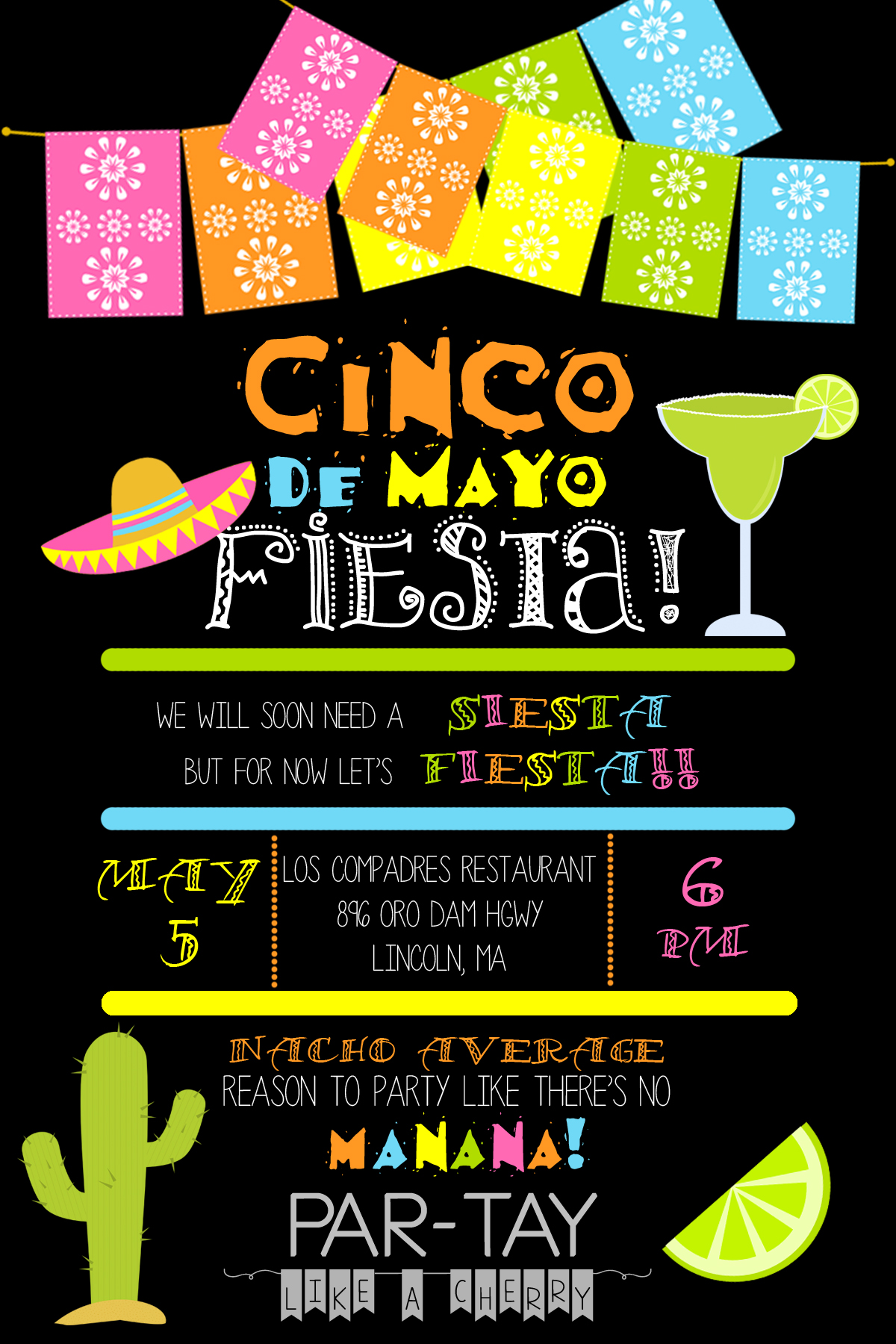 Cinco De Mayo Invitation Template