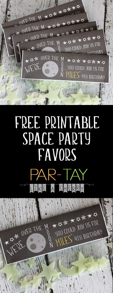free printable space party favor bag toppers