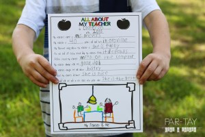 All About My Teacher free printable, perfect for a teacher gift
