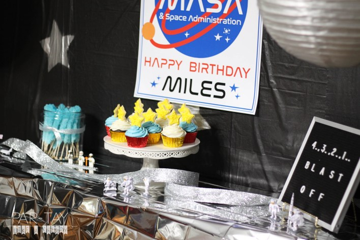 space party dessert table