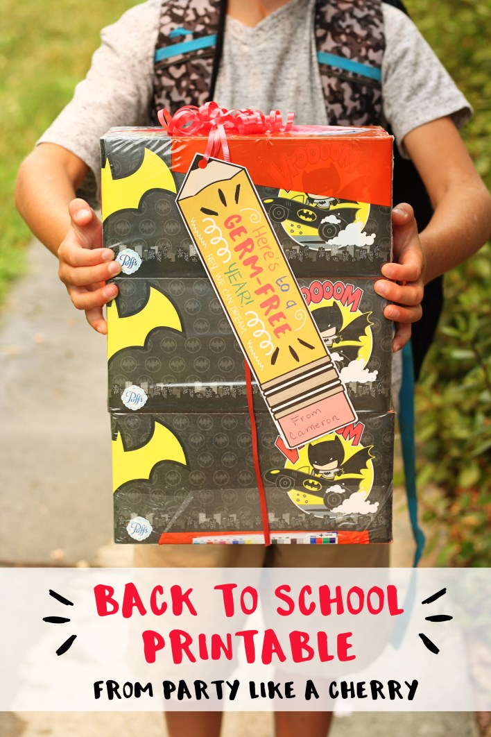 back to school teacher gift idea and free printable