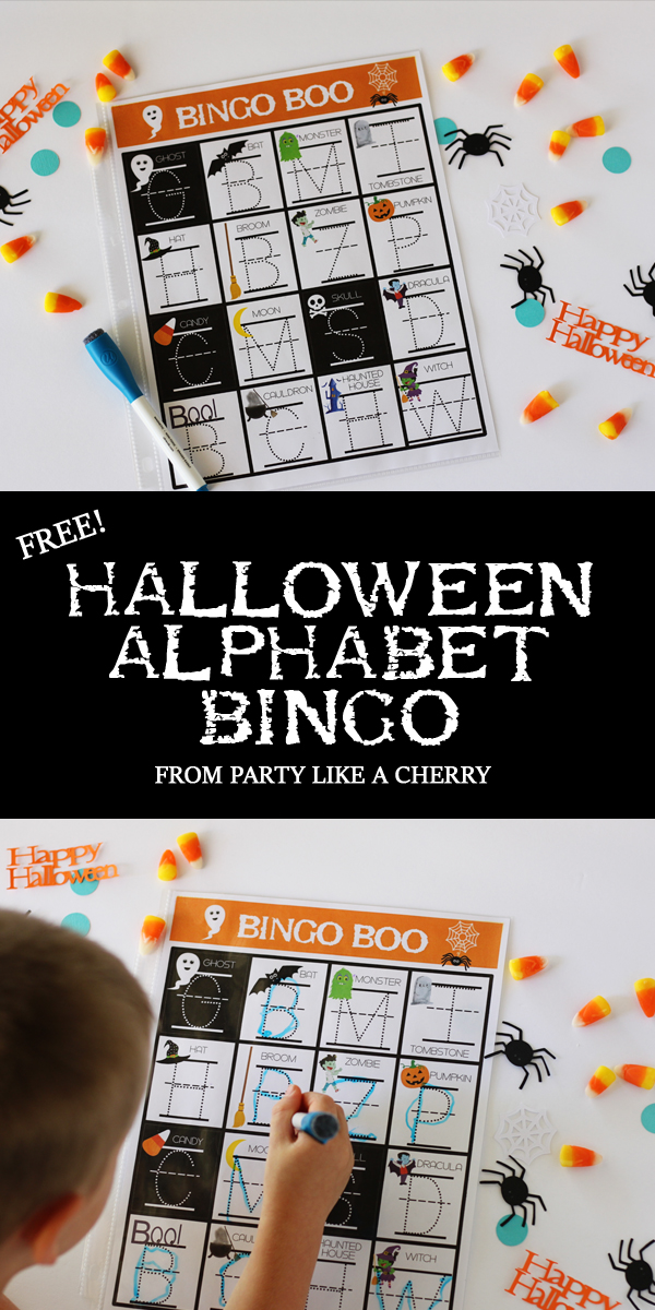 perfect game for preschool or kindergarten halloween party, free printable!
