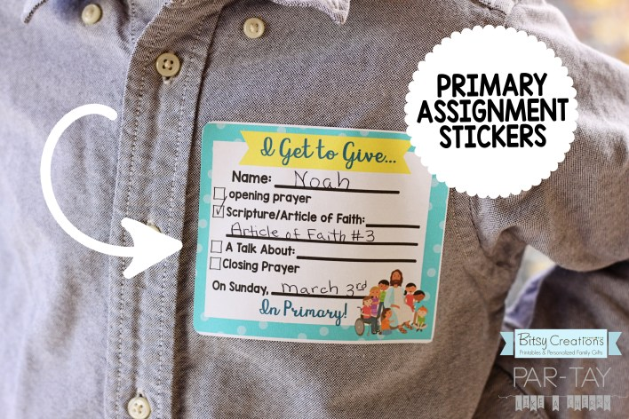 primary 2019 assignment stickers, assign talks, prayers, articles of faith and scriptures, free printable coordinates with binder covers and more!