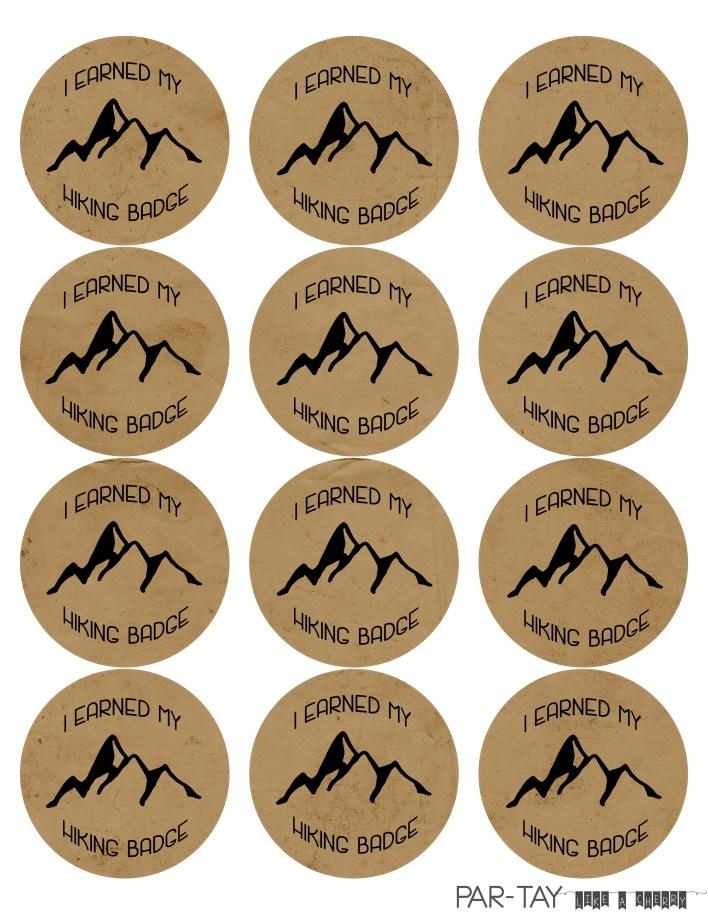 camping party badges hiking badge