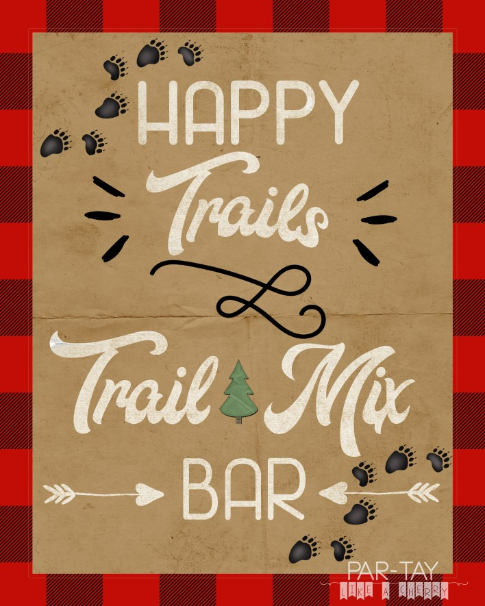 trail mix bar free printable