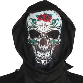 Decorated skull hood