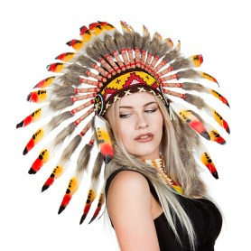 Native American Indian feather headdress warbonnet