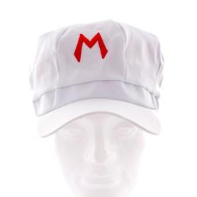 White Mario cap