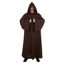 Brown cloak/robe with hood 180 cm