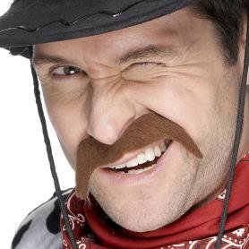 Brown cowboy moustache