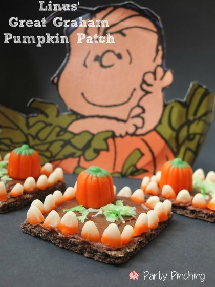 easy halloween dessert, halloween treats for kids, halloween party ideas for kids, great pumpkin charlie brown party, linus pumpkin patch