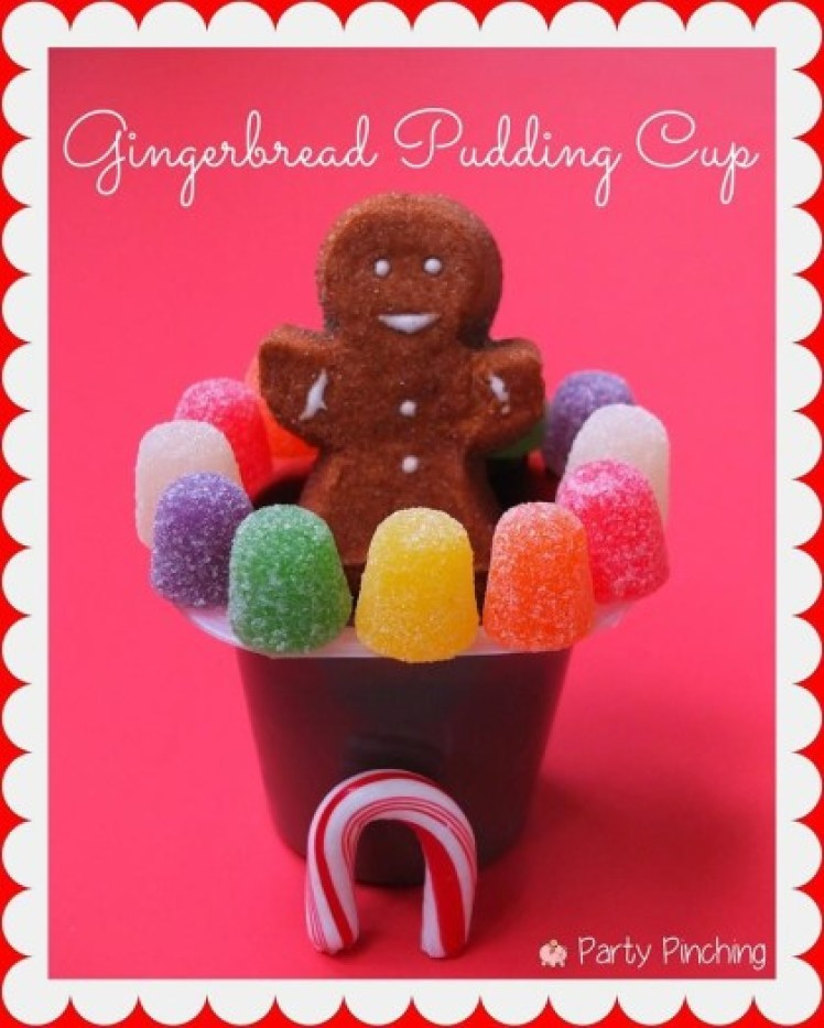 gingerbread pudding, easy christmas dessert ideas for kids, christmas classroom party ideas