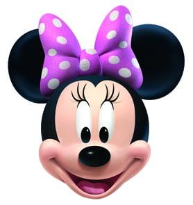 Disney Minnie Mouse Cardboard Face Mask Partyrama