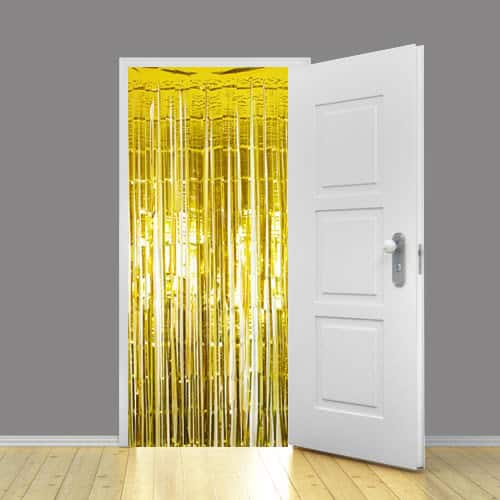 gold metallic shimmer curtains 91cm x 240cm pack of 10