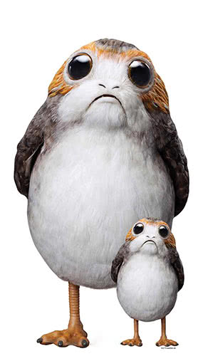 Star Wars The Last Jedi Porg Lifesize Cardboard Cutout