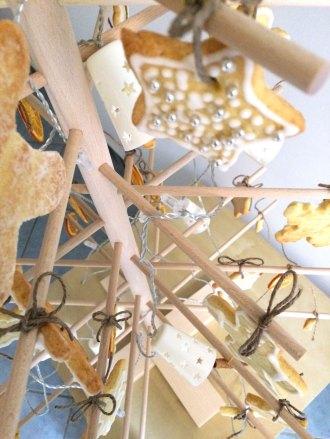 Dettaglio albero in decorazioni