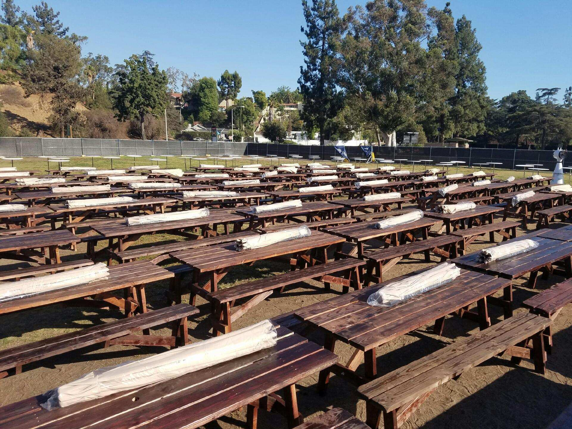 Picnic Tables Los Angeles PartyWorks Inc Equipment
